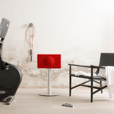 Geneva - Model L Wireless - HG ROOD, Incl. Floorstand RVS
