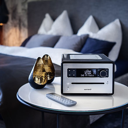 Sonoro CD - DAB+ radio - Slaapkamer radio CD