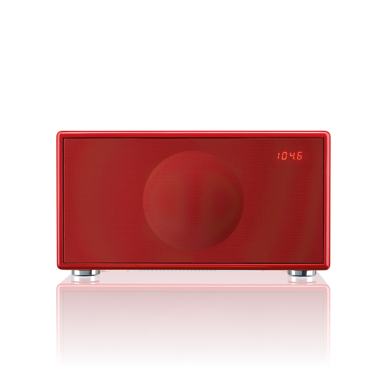Geneva model M Rood - wireless met Chromecast WiFi multiroom