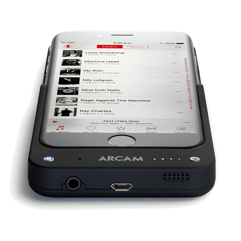 Arcam MusicBoost - Gecombineerde DAC, hoofdtel. versterker & accu pack voor iPhone 6